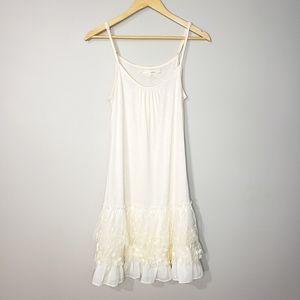 Aréve Layered Lace Ruffled Slip Dress NWT Small
